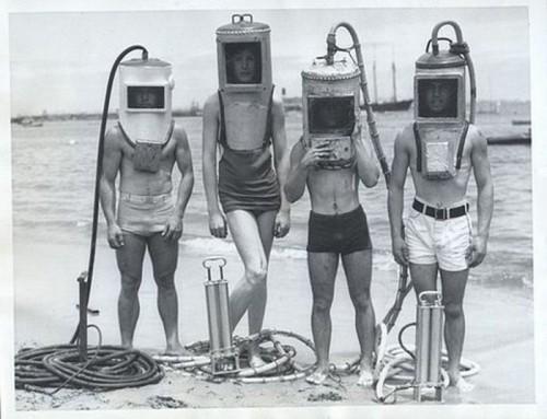 underwater helmets
