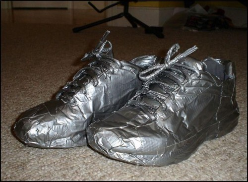 Duct Tape Shoes 500x367 Duct Tape Shoes wtf