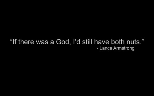 lance armstrong on his testicles