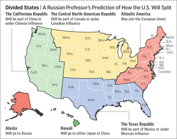 how the US will split