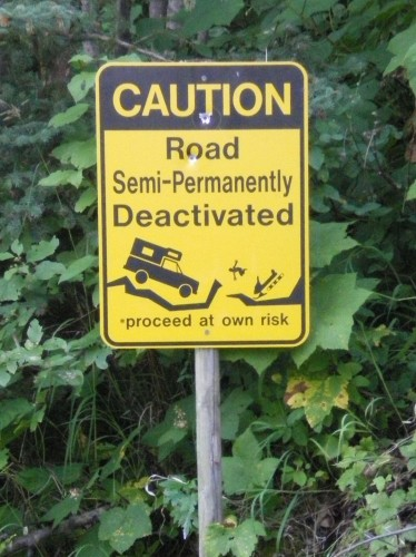 road semi-permanently deactivated