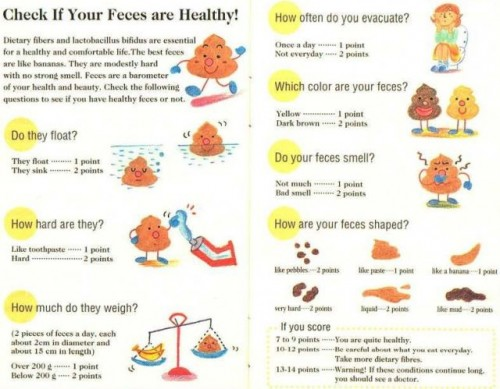 check if your feces are healthy