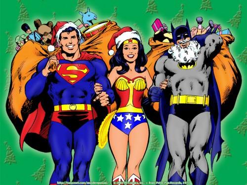superman wonder woman and batman christmas
