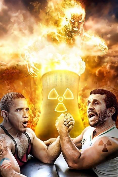 obama vs Ahmadinejad - nuclear war