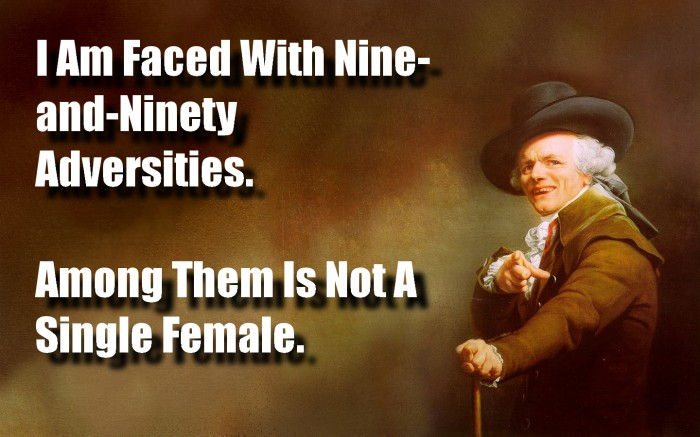I am face with Nine-and-Ninety Adversities
