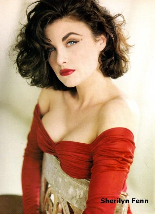 Sherilyn Fenn - busty in red