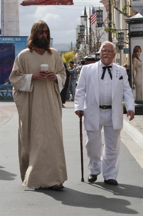 jesus and KFC man