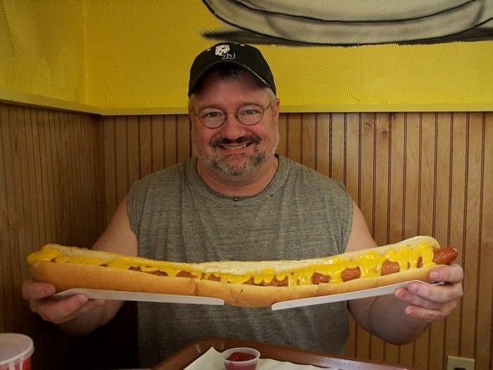 large hot dog eater