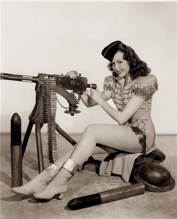 machine gun cheerleader