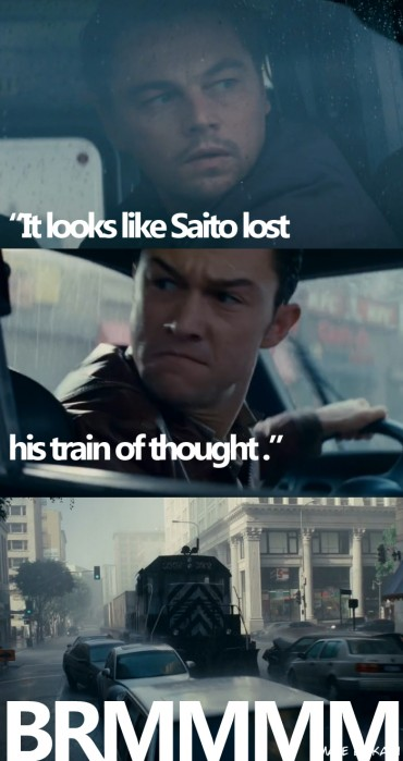 It looks liek Saito lost his train of thought