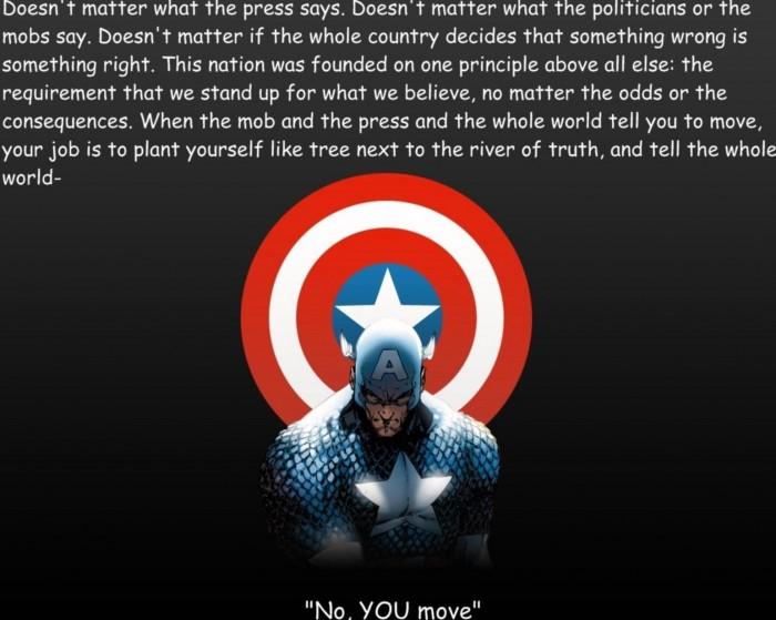captain america - no, you move