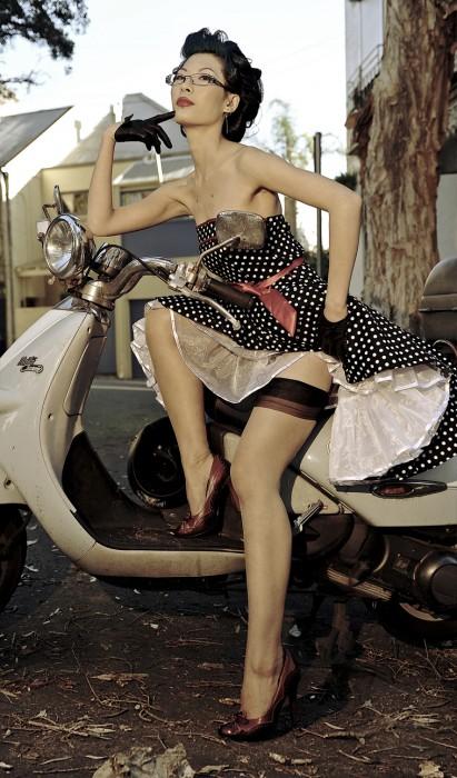 sexy bike girl