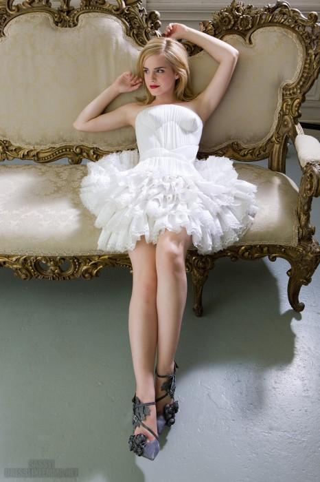 emma watson fluffy dress