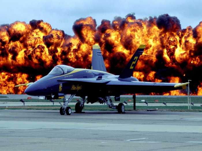 blue angels EXPLOSION 700x525 blue angels EXPLOSION wtf Wallpaper Military Humor Awesome Things