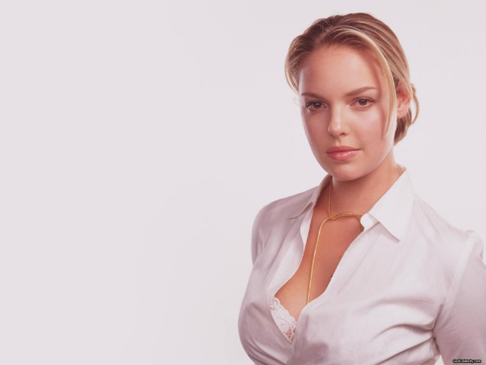 Katherine Heigl - open shirt