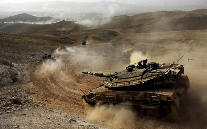 battle tanks on the move