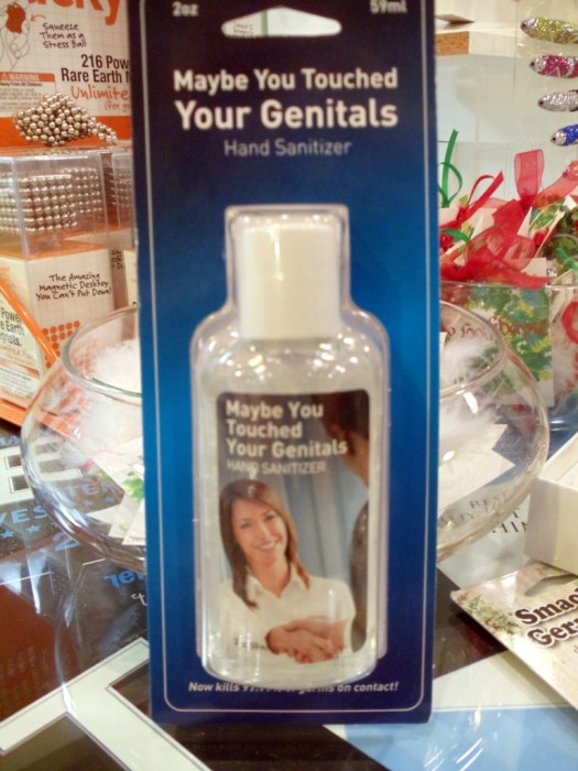 maybe you touched your genitals