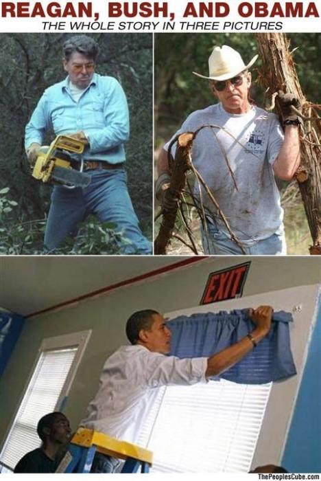 reagan, bush, and obama