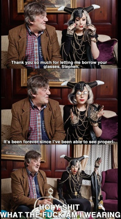 lady gaga and stephen fry