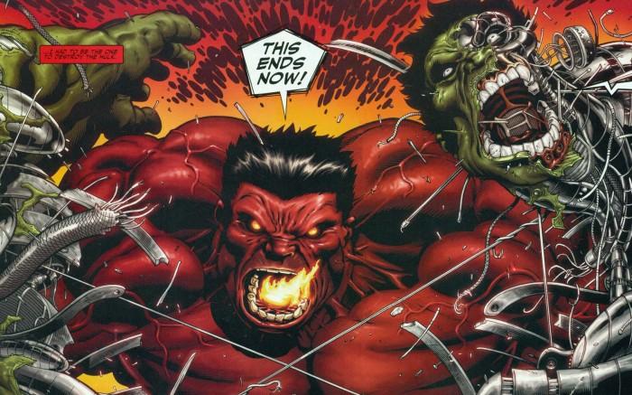 red hulk vs cyborg green hulk