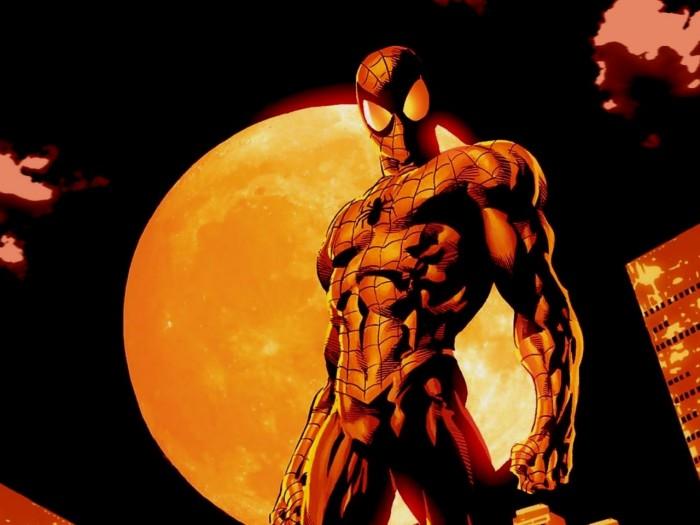 spider-man in red