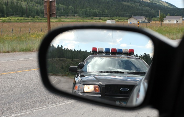 police are behind you