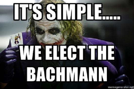 We elect the bachmann We elect the bachmann