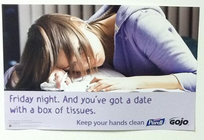 date with a box of tissues