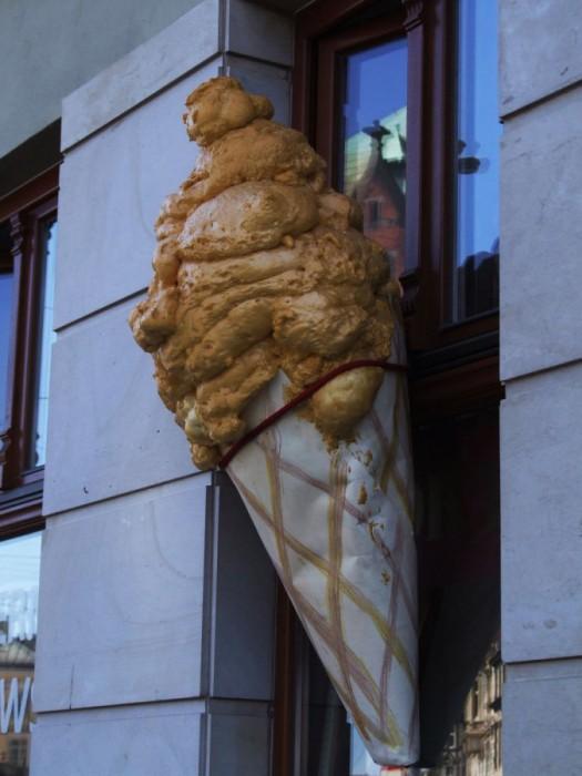 massive ice cream dump