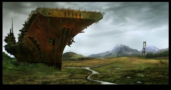 rusty aircraft carrier