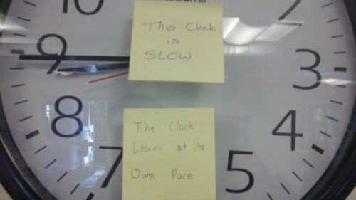 the clock is slow