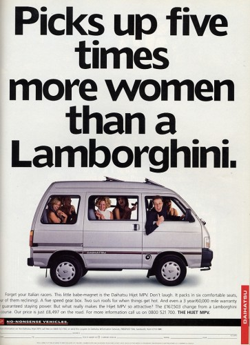 five times more women than a lamborghini