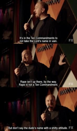 louie CK on the ten commandments