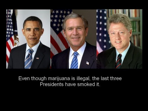 the last three president have smoked