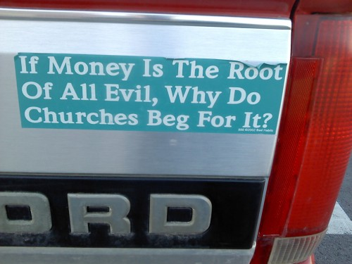money is the root of all that is evil