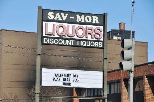 valentines day - blah blah blah drink