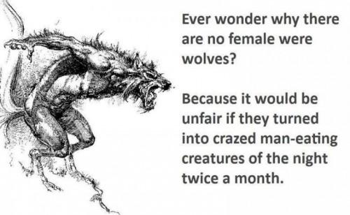 no female werewolves
