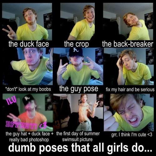 dumb poses that all girls do