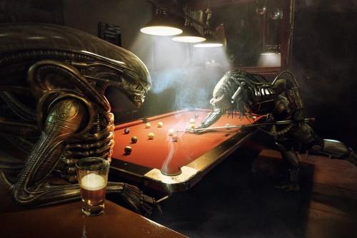 alien vs predator - pool game