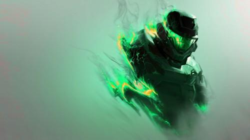 halo - green flames