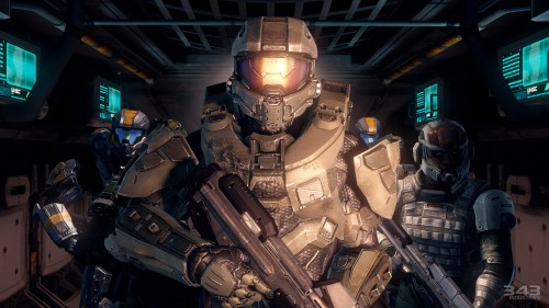 halo - master chief and friends