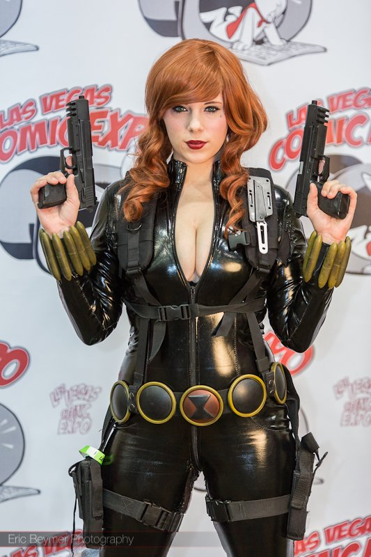 black widow cosplayer black widow cosplayer Sexy not exactly safe for work cosplay Comic Books