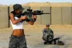 2 150x100 Soldier chicks Military guns chicks