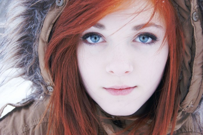 Red Head in the cold 700x465 Red Head in the cold Wallpaper Sexy
