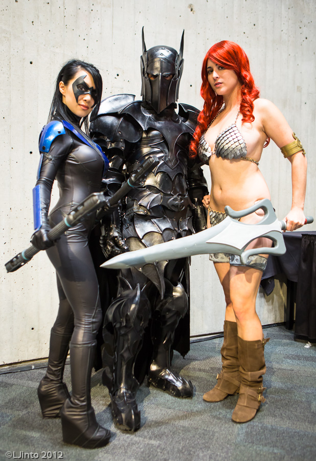 awesome cosplay nightwing batman red sonja awesome cosplay   nightwing, batman red sonja Sexy Nightwing cosplay batman