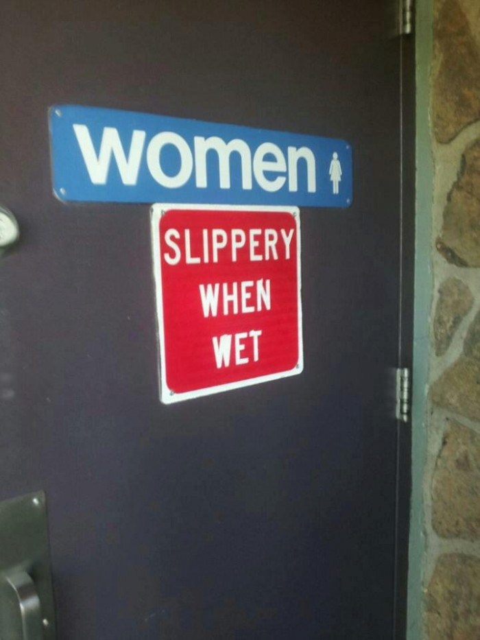 women slippery when wet 700x933 women   slippery when wet Humor