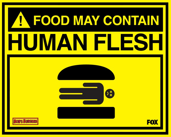 Food man contain human flesh 700x560 Food may contain human flesh Television Humor Food
