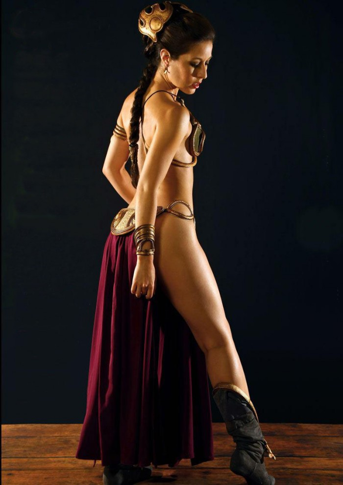 Leggy Slave Leia 700x987 Leggy Slave Leia star wars slave leia Sexy not exactly safe for work cosplay