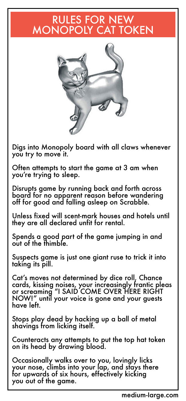 Rules for new Monopoly Cat Token Rules for new Monopoly Cat Token