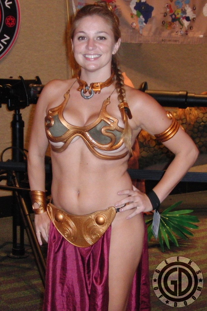 Slave Leia cosplayer with plenty of underboob 700x1050 Slave Leia cosplayer with plenty of underboob star wars slave leia Sexy not exactly safe for work cosplay